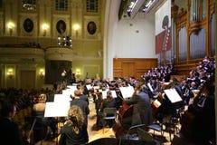 Orchestre symphonique à la soirée de gala images stock