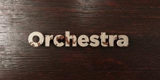 Orchestre - titre en bois sale sur l'érable - image courante gratuite de redevance rendue par 3D illustration libre de droits