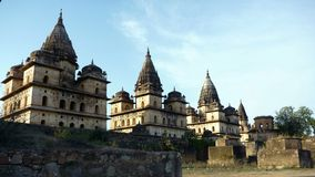 Orchha Chhatris temples, india Royalty Free Stock Photos