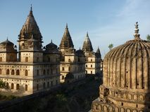 Orchha Chhatris temples, india Stock Photo