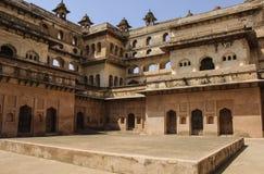 Orchha fort Jahangir Mahal, Orchha, Madhya Pradesh, India. Orchha fort Jahangir Mahal on a sunny day, Orchha, Madhya Pradesh, India Stock Photography