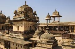 Orchha fort Jahangir Mahal, Orchha, Madhya Pradesh, India. Orchha fort Jahangir Mahal on a sunny day, Orchha, Madhya Pradesh, India Stock Images