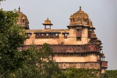 Orchha Palace, Madhya Pradesh. Also spelled Orcha, famous travel destination in India. Orchha Palace, Madhya Pradesh. Also spelled Orcha, famous travel Stock Photography