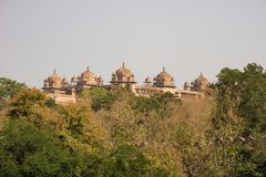 Orchha Palace, Madhya Pradesh. Also spelled Orcha, famous travel destination in India. Orchha Palace, Madhya Pradesh. Also spelled Orcha, famous travel Royalty Free Stock Photos