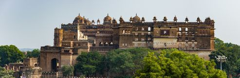 Orchha Palace, Madhya Pradesh. Also spelled Orcha, famous travel destination in India. Orchha Palace, Madhya Pradesh. Also spelled Orcha, famous travel Royalty Free Stock Images