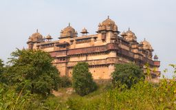 Orchha Palace, Madhya Pradesh. Also spelled Orcha, famous travel destination in India. Orchha Palace, Madhya Pradesh. Also spelled Orcha, famous travel Stock Images