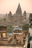 Orchha's Palace at sunset, India. Royalty Free Stock Photo