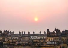 Orchha slott, Rajasthan, Indien Royaltyfria Bilder