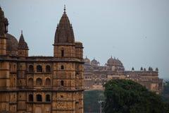 Orchhapaleis, Madhya Pradesh Ook gespelde Orcha, beroemde reisbestemming in India Royalty-vrije Stock Foto