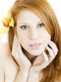orchidée de fille images stock