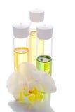 Orchidée et pétrole organique Photographie stock libre de droits