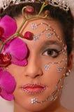 orchid κοριτσιών Στοκ φωτογραφία με δικαίωμα ελεύθερης χρήσης