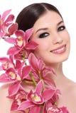 orchid κοριτσιών στοκ φωτογραφίες