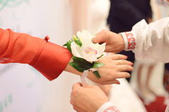Orchid Boutonniere Royalty Free Stock Images