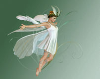 Orchid Fae. A graceful fairy with wings and wreath Royalty Free Stock Photo