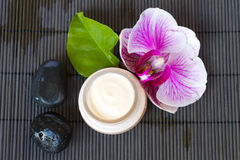 Orchid flower spa set Stock Photo
