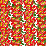 Orchid Flower Wallpaper Pattern Stock Photo