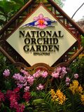 Orchid garden sign Royalty Free Stock Photos
