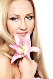 Orchid lady Royalty Free Stock Photos