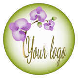 Orchid logo Stock Images