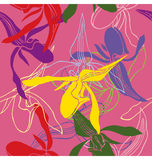 Orchid Pattern Stock Images