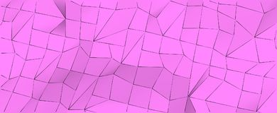 Orchid pink abstract geometric 3d low polygonal background. Royalty Free Stock Image