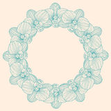 Orchid round frame Royalty Free Stock Images