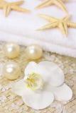 orchid spa λευκό Στοκ φωτογραφία με δικαίωμα ελεύθερης χρήσης