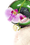 Orchid Spa Composition Royalty Free Stock Photos