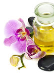 Orchid Spa Composition stock image