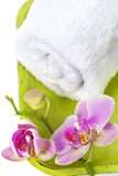 Orchid Spa Composition Stock Photos