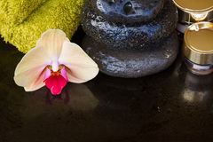 Orchid spa treatment Stock Photo