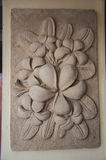 Orchid stone carving Royalty Free Stock Photo