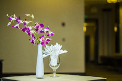Orchid and Wipes Paper Decoration Royalty Free Stock Photos