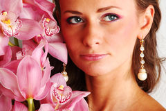 Orchid woman Royalty Free Stock Images