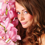 Orchid woman Stock Images