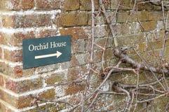 Orchidea domu znak Zdjęcie Royalty Free