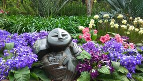 Singapore National Orchidea Garden statue royalty free stock photography
