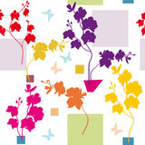 orchidea kwiecisty wzór Zdjęcie Royalty Free
