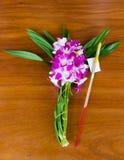 Orchidea kwitnie dla Buddha Obraz Royalty Free