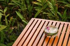 Orchideedekoration stockfotos