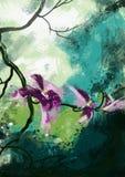Orchideenblumen - Archivbild Lizenzfreies Stockbild