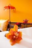 Orchideendekoration Lizenzfreies Stockbild