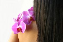 Orchideetherapie stockbilder