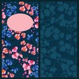 Orchidei błękita zaproszenie ilustracji