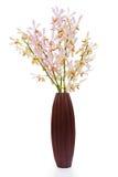 orchidei drewno różowy wazowy Zdjęcia Royalty Free