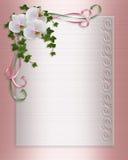 orchids πρόσκλησης συνόρων floral γάμ&omicro