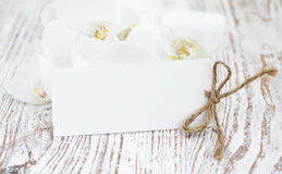 Free Orchids And Blank Card Royalty Free Stock Photo - 38949325