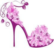 Orchids high heel. Vector Stock Photography