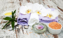 Orchids spa Royalty-vrije Stock Afbeelding
